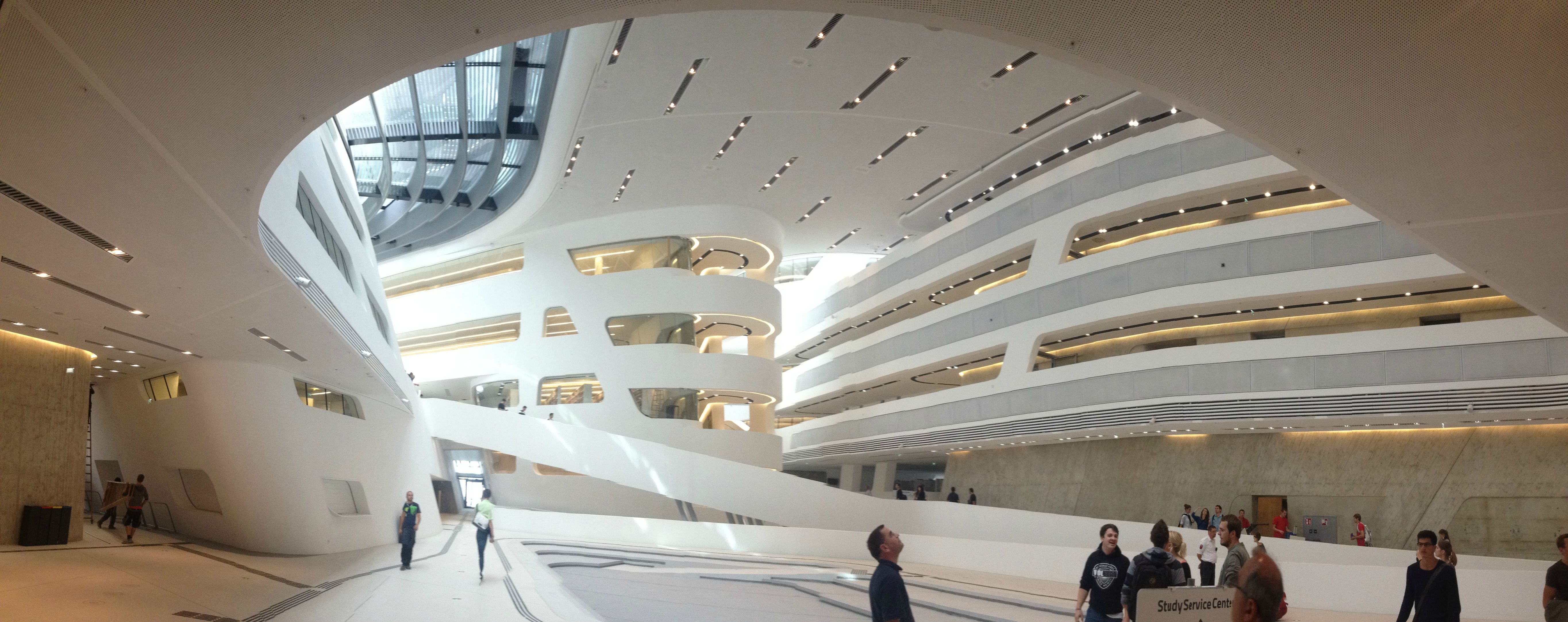 University of vienna talk to me about austria for Zaha hadid vienna